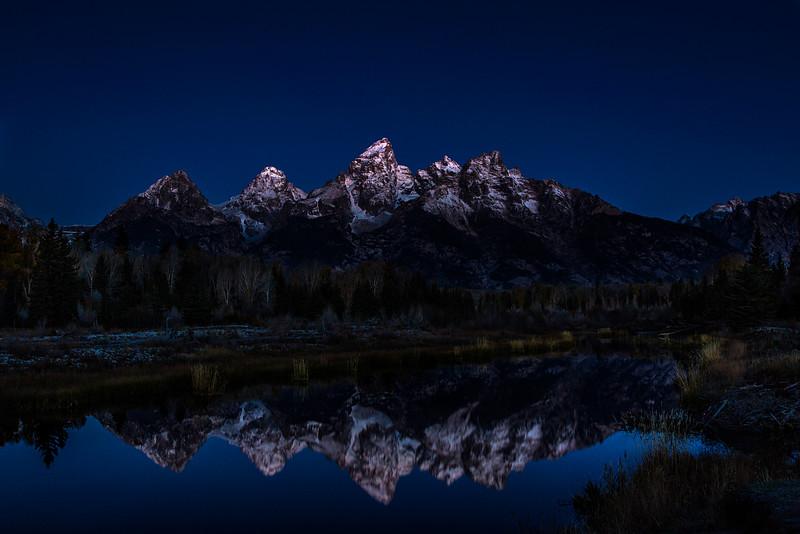Grand tetons by moonlight