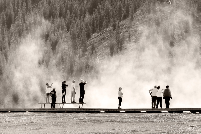 Looking Into the Mist, Grand Prismatic Spring