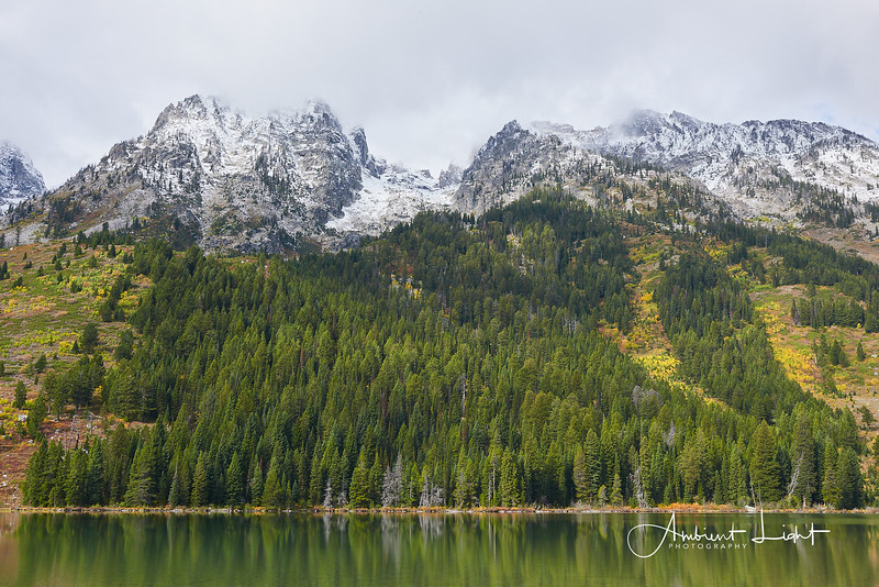 Leigh Lake, one of several, in Grand Teton National Park