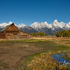 Moulton Barn along Mormon Row with Tetons
