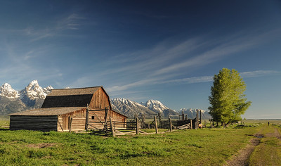 Mormon Row, an Historic Amish Community near Grand Teton National Park and Jackson Hole, Wyoming