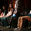 Special to the Record-Eagle/ Keith King<br /> Participants listen as a word is spelled Sunday during the 2018 Grand Traverse Regional Spelling Bee at the State Theatre in Traverse City.