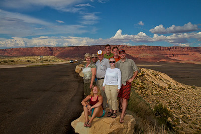 A group portrait at the Vermillion Cliffs on the road to Lee's Ferry.