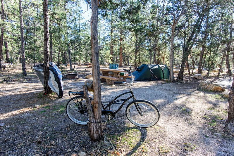 Two bikes, a tent and a week camping on the South Rim.