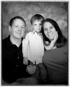 18 Cooper's 3 Year Old Shoot (8x10) b&w framed