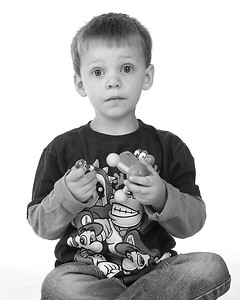 12 Cooper's 4th BDay Session (8x10) b&w