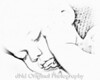 44 Cooper June 2010 Fathers Day - Sleeping (8x10 crop Jibz watercolor sketch b&w)