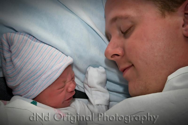19a Cooper David Nicol's Birth - Dad Resting With Copper vig
