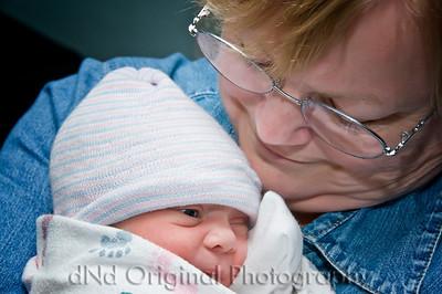 45 Cooper David Nicol's Birth - In Grandma Debi's Arms