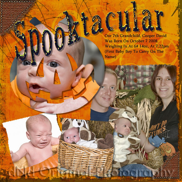 12 x 12 Scrapbook Page Of Cooper<br /> Created In Scrapbook Max
