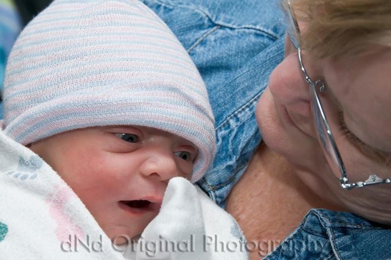 25a Cooper David Nicol's Birth - In Grandma Debi's Arms
