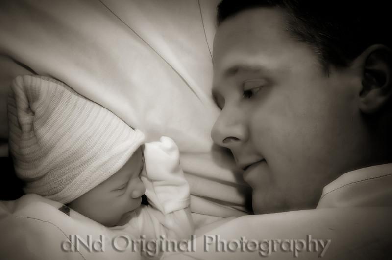18b Cooper David Nicol's Birth - Dad Resting With Copper (b&w softfocus halfphototoner)