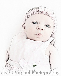 08 Faith - 5 weeks old (8x10) JibzColoredWatercolorSketch
