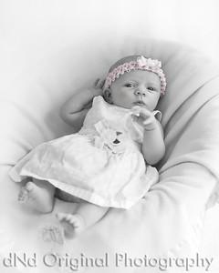 04 Faith - 5 weeks old (8x10) b&w