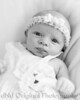 05 Faith - 5 weeks old (8x10) b&w vig