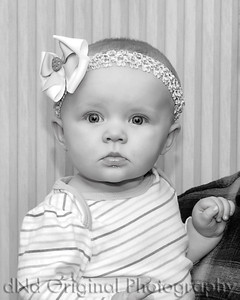 01 Faith 7 Months (8x10) b&w