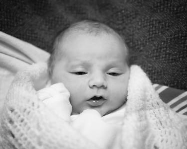 05 Kyla Nicole Tomicich 1 day old (b&w)