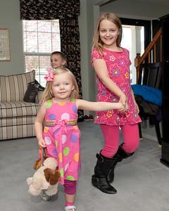 011 Kyla's 1st BDay Party - Faith & Brielle & Brennan