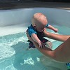 first time in the pool  june 13