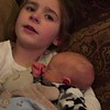 Precious cousin Emma singing to Liam  Feb. 12