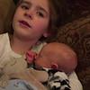 Precious cousin Emma singing to Liam  Feb. 12
