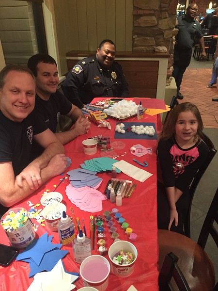 great fund raiser - Emma loves her first responders