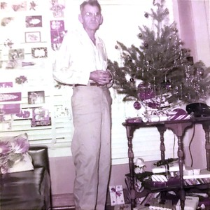 Christmas 1957 - Daddy after he got sick