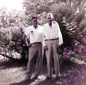 "Buddy and ""Pops"" Samuell. Hard to read handwriting"