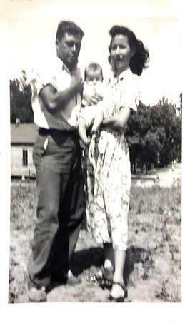 "Caption on photo said that Grandpaw Harding called Geraldine ""Nick"".  Photo taken May 22, 1949"