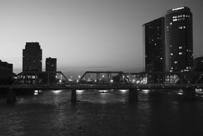 Grand Rapids in Black & White
