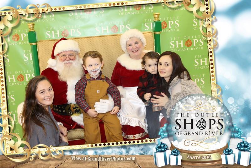 Outlet Shops of Grand River Santa 2018