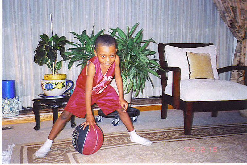 Isaiah in his Diddy Red uniform in March, 2006