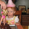 She blew out all the candles.