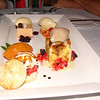This is a picture of the VIP Dessert plate whipped up by Chef Jason at Paggi House