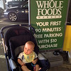 visiting the local Whole Foods where he (using the microwave) and grandpa ate