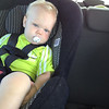 Eli trying to relax on the way to MacKenzie Environmental Center (MEC).