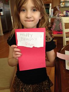 20140314 Happy Birthday Papa Card