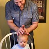 Uncle Chris applying the 'Butter' to Griffin
