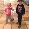 March - purse and hat shopping with brother Parker - photo courtesy Dad & Mom on facebook