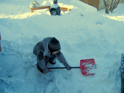 SHOVELLING SNOW WITH NANNIE