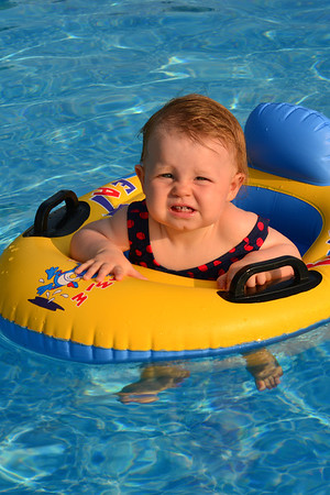 At the Pool with Sean and Morgan