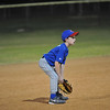 "A photo of Zac at the ""baseball ready"" position at shortstop."