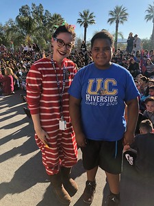 Isaiah with his 5th Grade teacher Ms. Bryan.