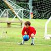Dalton defending the goal.