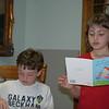 Dalton and Brooke.<br /> Brooke starts reading her cards.