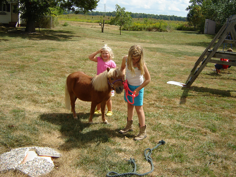 """Allie brought """"Little Guy"""" along for the kids to enjoy"""