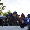 """In this scene, Zac was telling the people along the parade route: """"Cubs rule! Got it? Good!"""""""