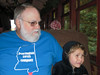 Saturday:  Cold on the train from Felton to the Boardwalk  (Roaring Camp Big Trees Railroad)