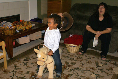 Isaiah realizes he's riding a bucking bronco.