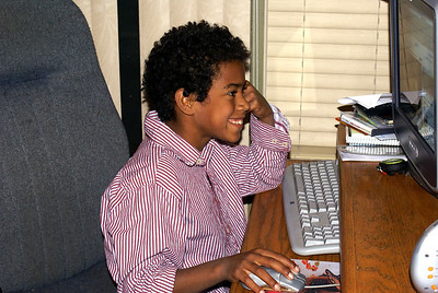 By that smile it must be computer games!